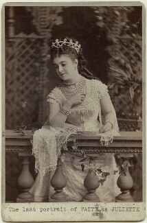 Adelina Patti as Juliet in 'Romeo and Juliet', by London Stereoscopic & Photographic Company - NPG x14712