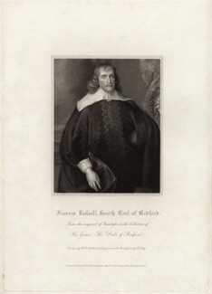 Francis Russell, 4th Earl of Bedford, by William Thomas Fry, after  Robert William Satchwell, after  Sir Anthony van Dyck - NPG D28199