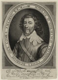 William Feilding, 1st Earl of Denbigh, by Robert van Voerst, published by  William Webb - NPG D28208