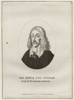 Basil Feilding, 2nd Earl of Denbigh, after Wenceslaus Hollar, published by  William Richardson - NPG D28215