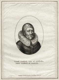 Lionel Cranfield, 1st Earl of Middlesex, published by William Richardson, after  Wenceslaus Hollar - NPG D28218