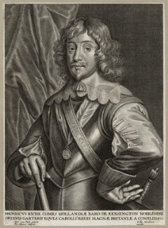 Henry Rich, 1st Earl of Holland, by Peeter Clouwet, published by  Gillis Hendricx, after  Sir Anthony van Dyck - NPG D28221