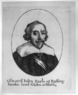 Oliver St John, 1st Earl of Bolingbroke, by Wenceslaus Hollar - NPG D28228