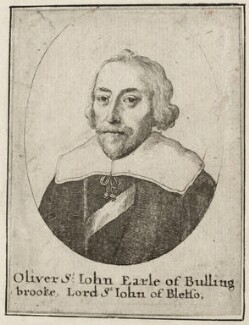 Oliver St John, 1st Earl of Bolingbroke, by Wenceslaus Hollar - NPG D28229