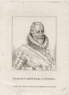 George Carew, Earl of Totnes, published by Silvester (Sylvester) Harding, after  Unknown artist - NPG D28236