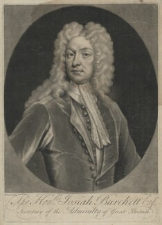 Josiah Burchett, by John Simon, after  James Maubert - NPG D32395