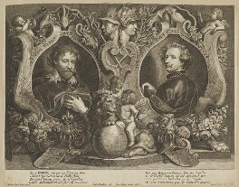 Sir Peter Paul Rubens and Sir Anthony van Dyck, by Paulus Pontius (Paulus Du Pont), after  Sir Anthony van Dyck, mid 17th century - NPG D28248 - © National Portrait Gallery, London