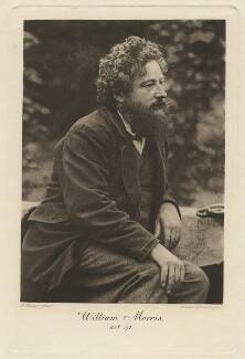 William Morris, by Walker & Boutall, after  Frederick Hollyer, published by  Longmans, Green & Co, published 1899 (1874) - NPG x3758 - © National Portrait Gallery, London