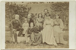 Sir Edward Coley Burne-Jones, 1st Bt and William Morris with their families, by Frederick Hollyer, 1874 - NPG x131265 - © National Portrait Gallery, London