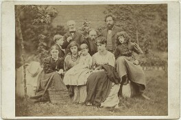 Sir Edward Coley Burne-Jones, 1st Bt and William Morris with their families, by Frederick Hollyer, 1874 - NPG x131266 - © National Portrait Gallery, London