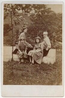 Margaret Mackail (née Burne-Jones); Jane Alice ('Jenny') Morris; May Morris; Sir Philip Burne-Jones, 2nd Bt, by Frederick Hollyer, 1874 - NPG x19864 - © National Portrait Gallery, London