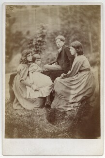 May Morris; Margaret Mackail (née Burne-Jones); Sir Philip Burne-Jones, 2nd Bt; Jane Alice ('Jenny') Morris, by Frederick Hollyer - NPG x19868
