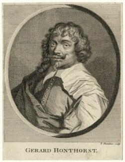Gerrit van Honthorst, by Thomas Chambers (Chambars), after  Gerrit van Honthorst - NPG D28270