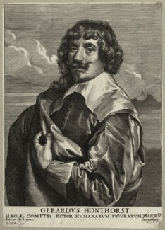 Gerrit van Honthorst, by Paulus Pontius (Paulus Du Pont) - NPG D28272