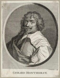 Gerrit van Honthorst, by Thomas Chambers (Chambars), after  Gerrit van Honthorst - NPG D28273