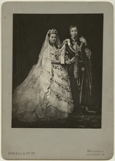Queen Alexandra; King Edward VII, by Mayall & Co, after  John Jabez Edwin Mayall - NPG x9182