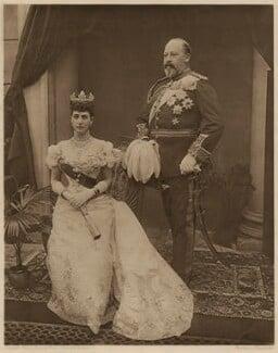 Queen Alexandra; King Edward VII, by Rembrandt, after  Peter Cooke, for  Gunn & Stuart - NPG x22287