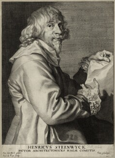 Hendrik van Steenwyck, by Paulus Pontius (Paulus Du Pont), after  Sir Anthony van Dyck - NPG D28297