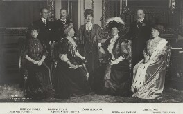 Royal group in the Crimson Drawing-Room at Windsor Castle, by William Edward Downey, for  W. & D. Downey, published by  Verlag von Gustav Liersch & Co, 17 November 1907 - NPG x131269 - © National Portrait Gallery, London