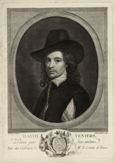 David Teniers Jr, by Jean Baptiste Michel, after  David Teniers Jr - NPG D28316