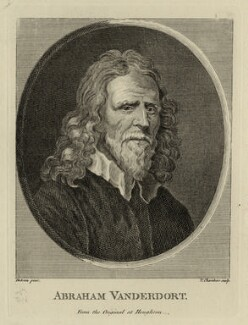 Abraham Van der Doort, by Thomas Chambers (Chambars), possibly after  William Dobson - NPG D28323