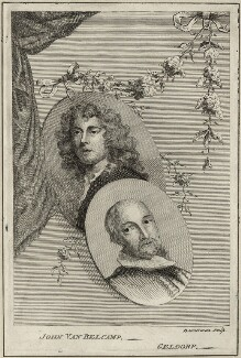 Jan van Belcamp and George Geldorp, by Alexander Bannerman, mid 18th century - NPG D28324 - © National Portrait Gallery, London