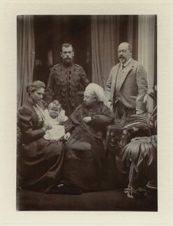 Royal family group, by Robert Milne, September 1896 - NPG x8482 - © National Portrait Gallery, London