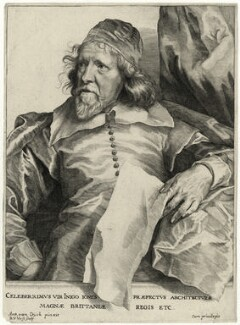 Inigo Jones, by Robert van Voerst, after  Sir Anthony van Dyck - NPG D28337