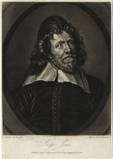 Inigo Jones, by Richard Earlom, published by  Josiah Boydell, after  Sir Anthony van Dyck - NPG D28339