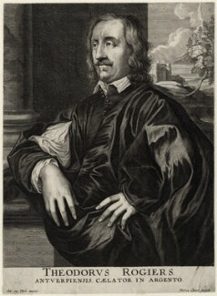 Théodore Rasières, by Peeter Clouwet, after  Sir Anthony van Dyck - NPG D28352