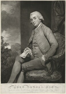 Ynyr Burges, by John Jones, after  George Romney - NPG D32407