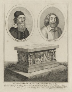 John Tradescant the Elder and John Tradescant the Younger, possibly by John Thomas Smith - NPG D28374