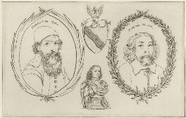 John Tradescant the Elder, John Tradescant the Younger, Elias Ashmole, after Wenceslaus Hollar - NPG D28375