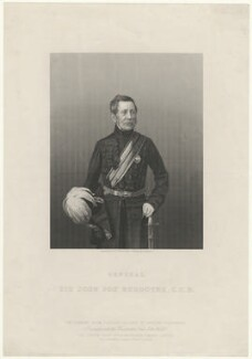 Sir John Fox Burgoyne, 1st Bt, by Daniel John Pound, after  John Jabez Edwin Mayall - NPG D32417
