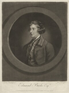 Edmund Burke, by James Watson, after  Sir Joshua Reynolds - NPG D32420