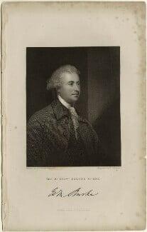 Edmund Burke, by John Henry Robinson, published by  Fisher Son & Co, after  Sir Joshua Reynolds - NPG D32423