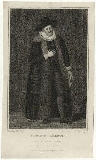 Edward Alleyn, by Thomas Nugent, published by  Edward Harding - NPG D28390