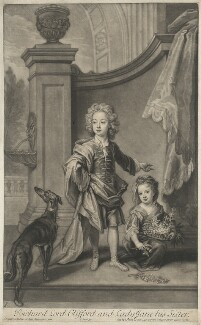 Richard Boyle, 3rd Earl of Burlington and 4th Earl of Cork; Lady Jane Boyle, by and published by John Smith, after  Sir Godfrey Kneller, Bt - NPG D32425