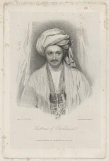 Sir Alexander Burnes, by Edward Francis Finden, after  Daniel Maclise - NPG D32426