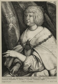 Aletheia Talbot, Countess of Arundel, by Wenceslaus Hollar, after  Sir Anthony van Dyck, published by  Johannes Meyssens, 1646 - NPG D28394 - © National Portrait Gallery, London