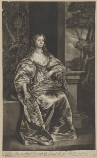Elizabeth Wriothesley (née Leigh), Countess of Southampton, by Richard Tompson, after  Sir Anthony van Dyck - NPG D28401
