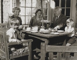 H.E. Bates with wife Madge, his daughter Anne and his two grandsons Stephen and Jeremy, by Mark Gerson - NPG x88310