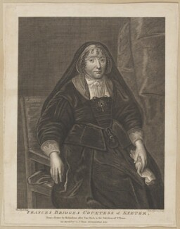 Frances Cecil (née Brydges), Countess of Exeter, by John Ogborne, after  Sir Anthony van Dyck, published by  John Thane - NPG D28408