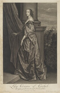 Lucy Hay (née Percy), Countess of Carlisle, by Pieter Stevens van Gunst, after  Sir Anthony van Dyck - NPG D28411