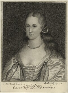 Christian Cavendish (née Bruce), Countess of Devonshire, by Schenecker - NPG D28415