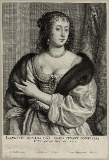 Frances Weston (née Stuart), Countess of Portland, by Wenceslaus Hollar, after  Sir Anthony van Dyck - NPG D28423