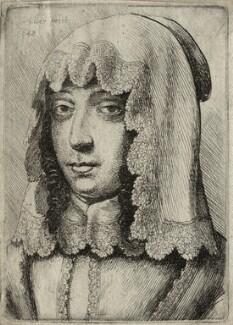 Katherine Livingston (née Howard), Viscountess Newburgh, by Wenceslaus Hollar - NPG D28429