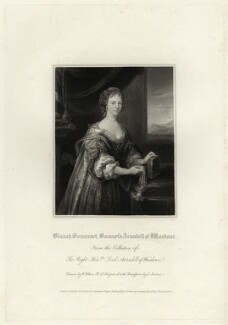 Blanche Arundell (née Somerset), Lady Arundell of Wardour, by Edward Scriven, after  Unknown artist - NPG D28434