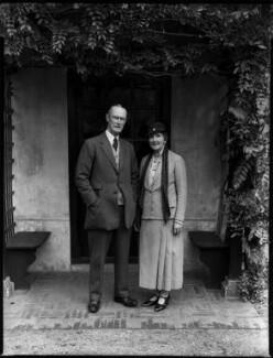 Sir Alexander John Godley; Louisa Marion (née Fowler), Lady Godley, by Bassano Ltd - NPG x152384
