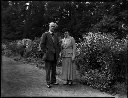 Sir Alexander John Godley; Louisa Marion (née Fowler), Lady Godley, by Bassano Ltd - NPG x152385